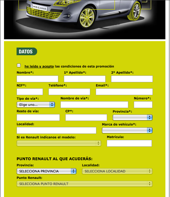 Mailing Renault Servicios