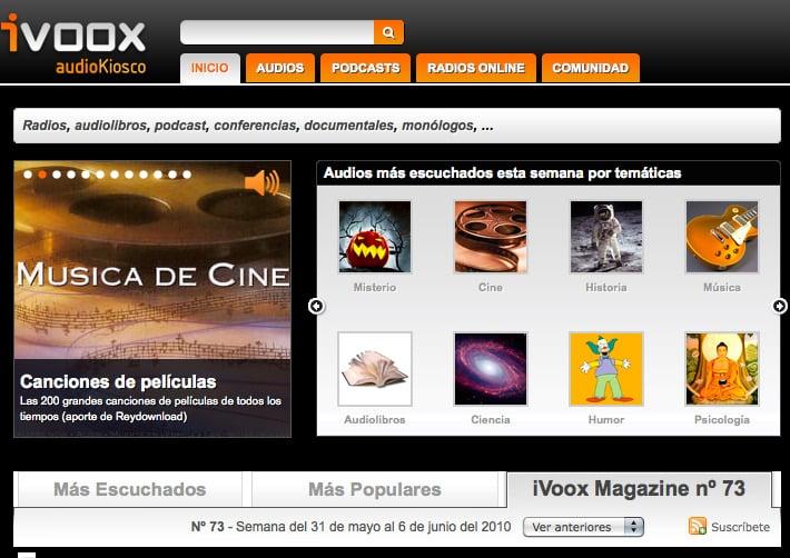 iVoox recomienda Bitacora del internauta en su magazine semanal