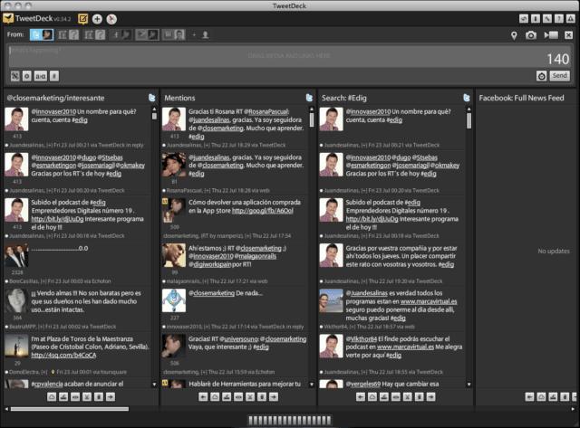 Tweetdeck como herramienta escritorio Tweeter