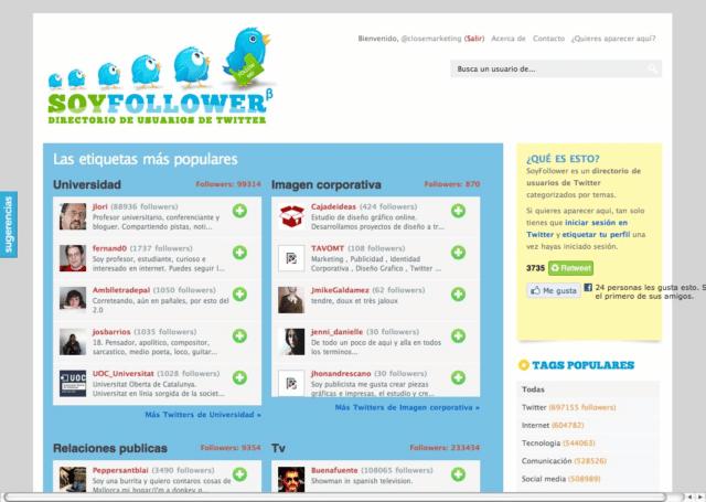 Directorio de Twitteros para conocer gente relacionada con un tema