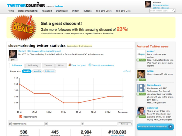 Twittercounter Web