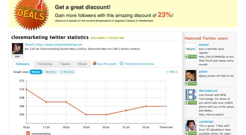 Twittercounter - Mira tus followers en Twitter