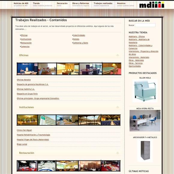 Diseño Web ProyectosMDI para Proyectos