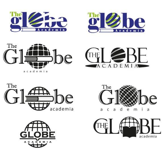 Bocetos para el Logotipo Academia de Inglés The Globe