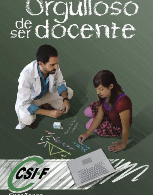 Cartel Campaña Publicidad Orgulloso de Ser Docente CSIF