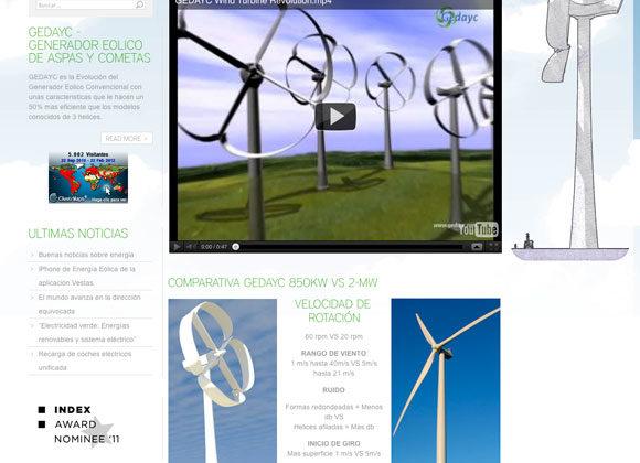 Diseño Web Gedayc - Invento de Motor Eólico