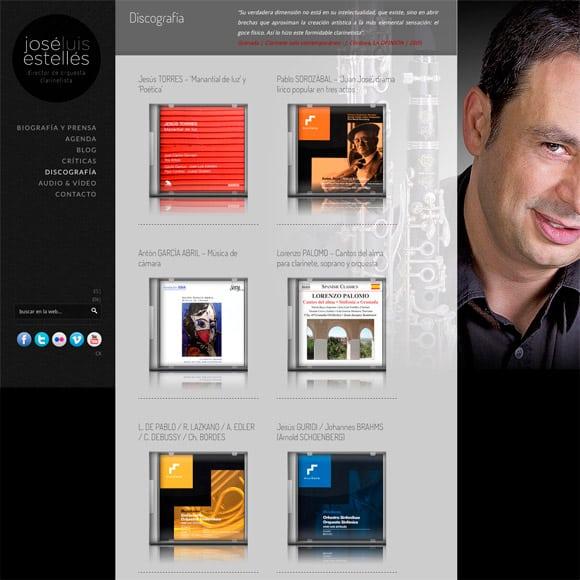 Diseño Web Discografía de Jose Luis Estellés Director de Orquesta
