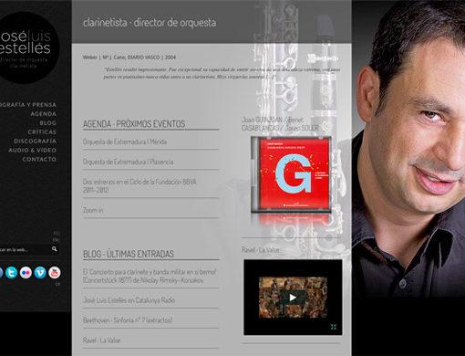 Página inicio Diseño Web Jose Luis Estelles