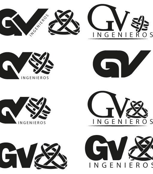 Algunos Bocetos para el Diseño Logotipo GV Ingenieros