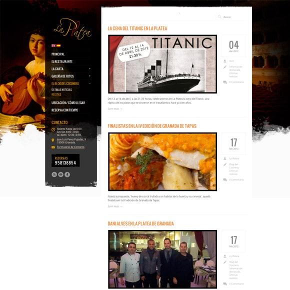 Diseño Web Restaurante La Platea Blog