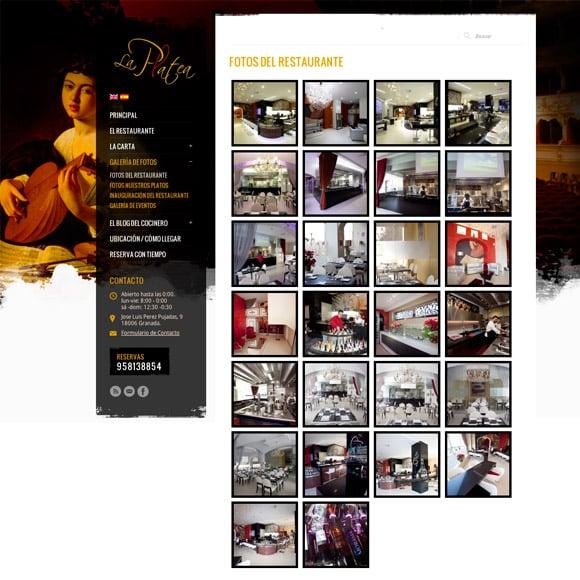 Diseño Web Restaurante La Platea Galería Fotos