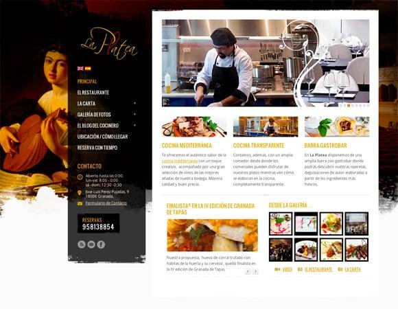 Diseño Web para Restaurante La Platea Granada