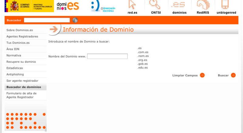 Consulta WHOIS Dominios ES
