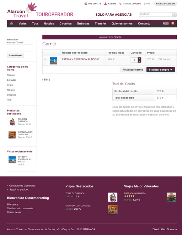 Diseño Web Carrito de Compra