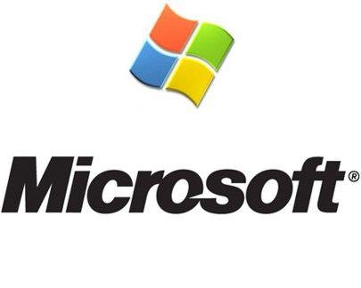 Microsoft antiguo diseño gráfico del logotipo