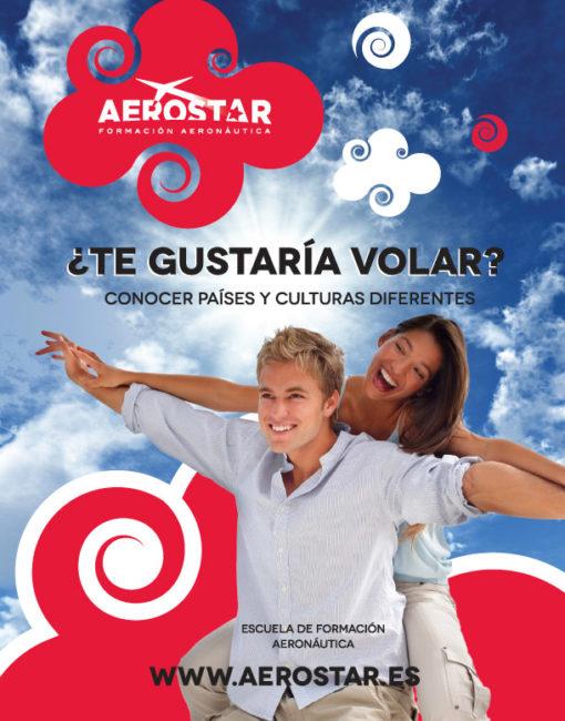 Diseño Gráfico Flyer Publicidad Aerostar