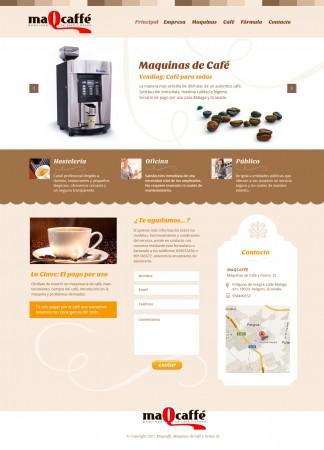 diseño grafico web maqcaffe