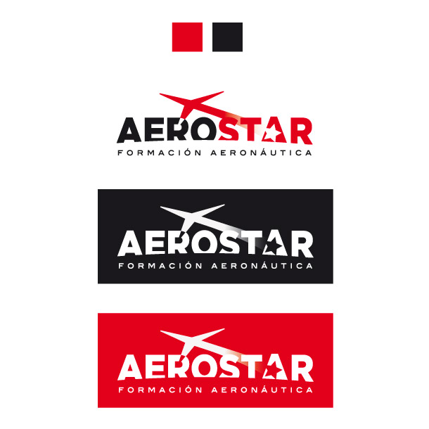 Diseño Logotipo Academia Aerostar