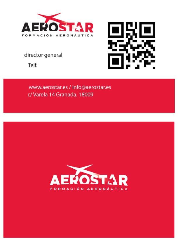 Diseño Gráfico e Imagen Corporativa Tarjetas Visita Aerostar