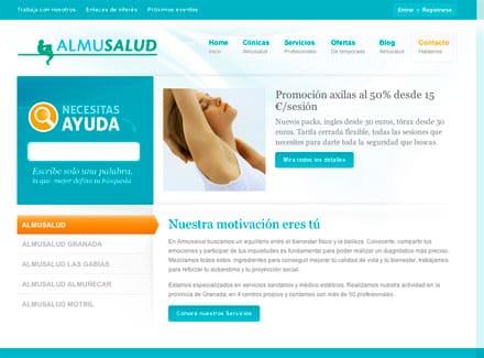 Diseño Web Clinica Estetica Almusalud Granada