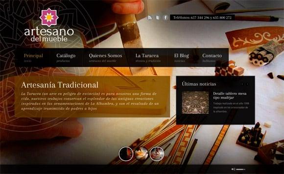 Dise o web artesano del for Pagina web muebles