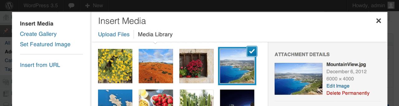 Nueva versión manejo de imagenes y Galerías multimedia en WordPress 3.5