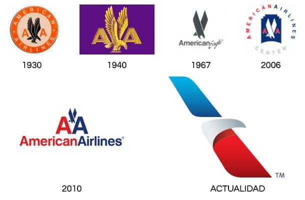 Evolucion-del-Logotipo-American-Airlines
