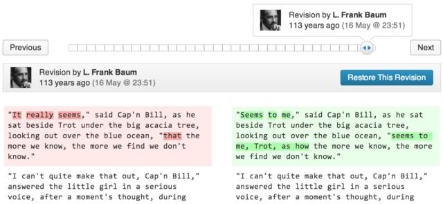 Edición con Guardado de revisiones en WordPress 3.6