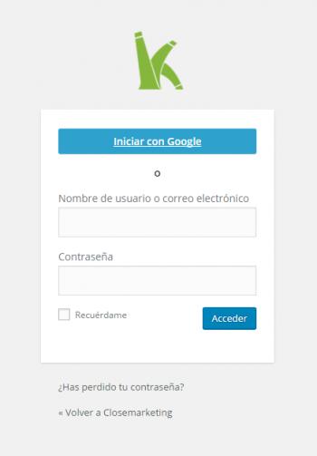Nuevo acceso a WordPress a través de correo electrónico