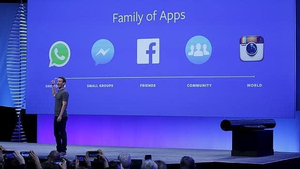Presentación de las novedades de Facebook por Mark Zuckerberg en el F8