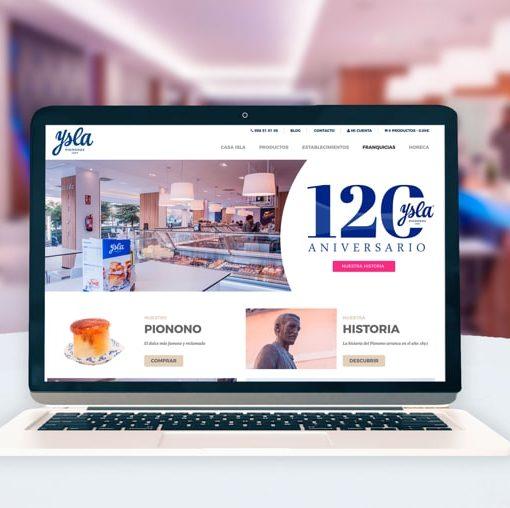 Diseño Tienda Online Pastelería Casa Ysla