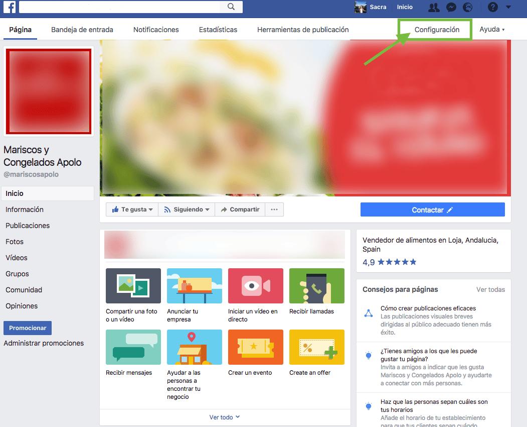 paso 1 administracion pagina de facebook