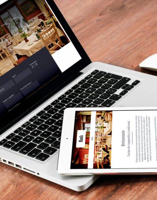 Diseño y maquetación de Página web de restaurante Flati