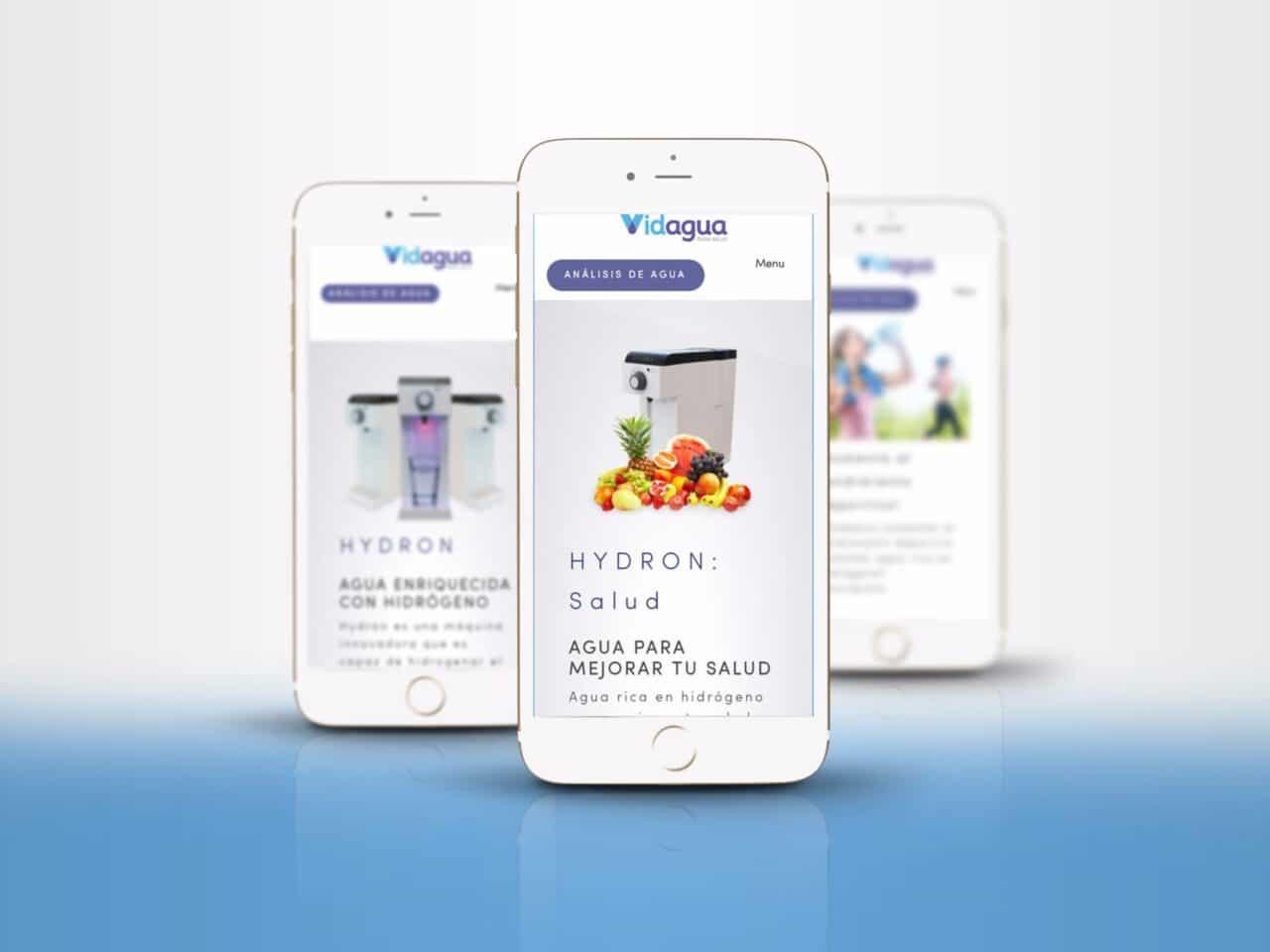 Diseño tienda online en almeria vidagua