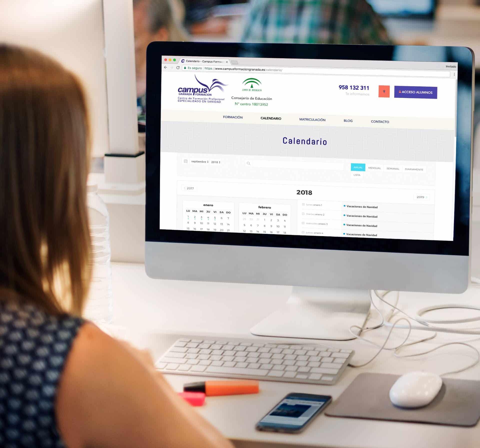 Diseño y desarrollo webs educación en Granada