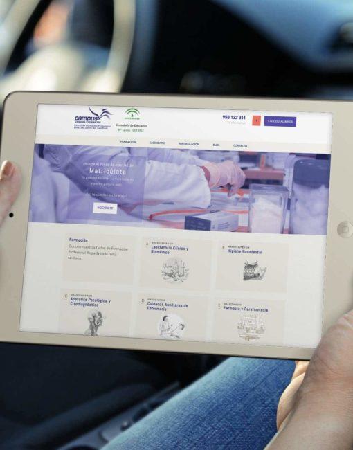 tablet proyecto Campus formación