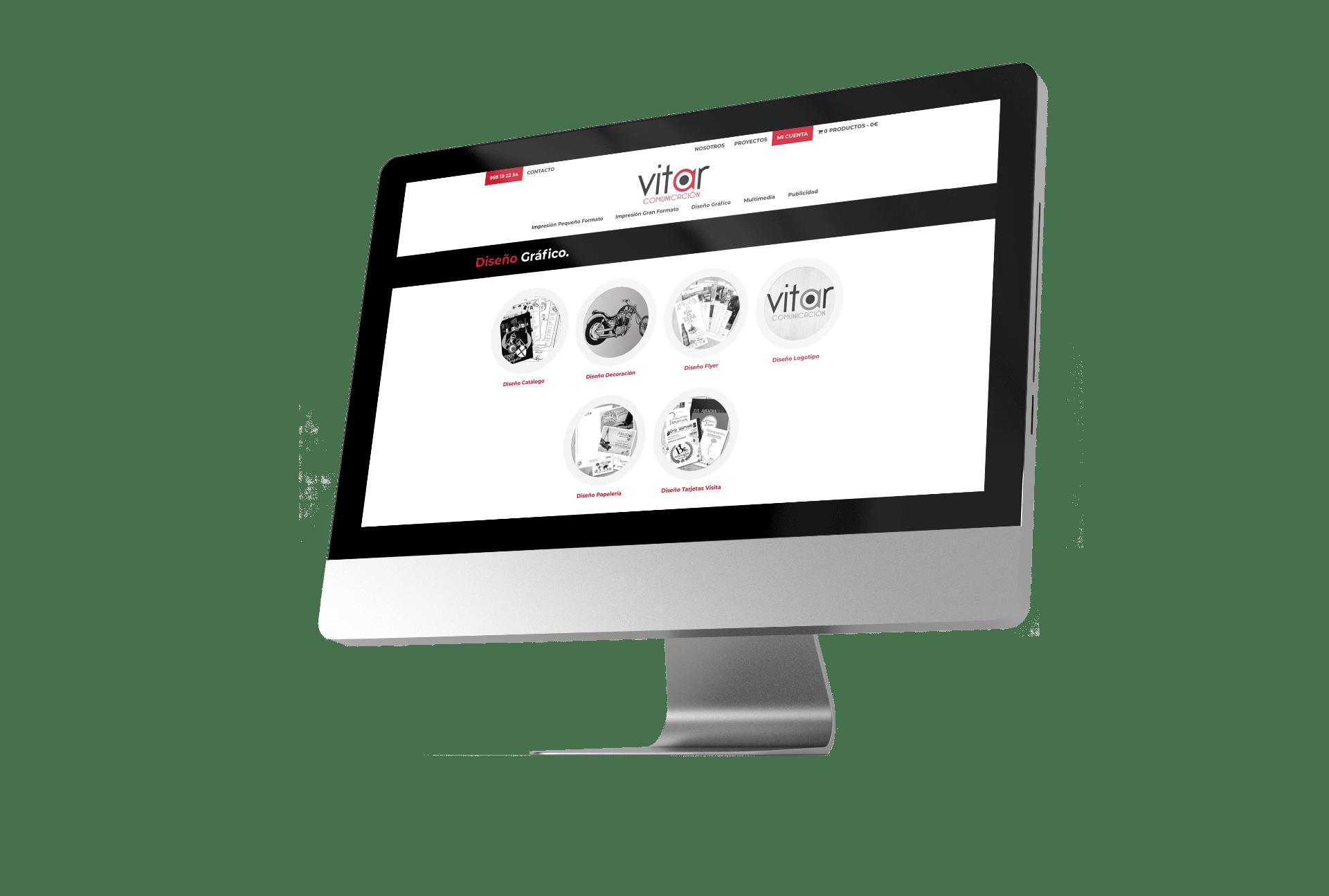 Diseño Web Página Vitar Comunicación
