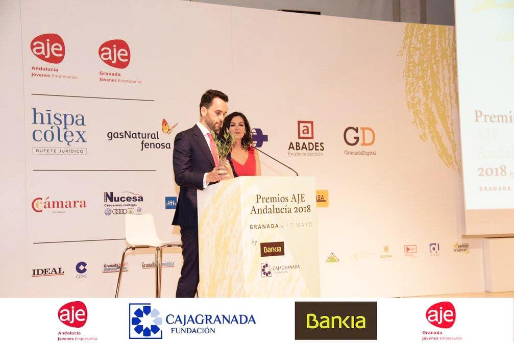 Premios AJE Andalucia 2018 Diseño gráfico