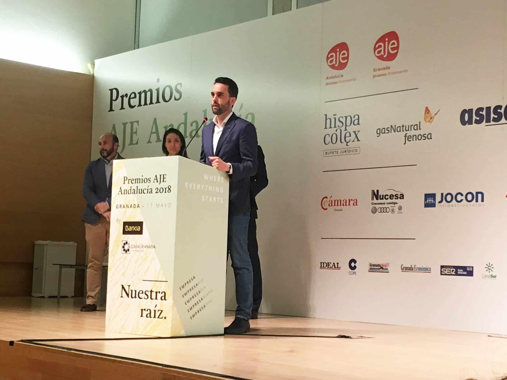 Premios AJE Andalucía Adaptación de materiales de comunicación diseño gráfico
