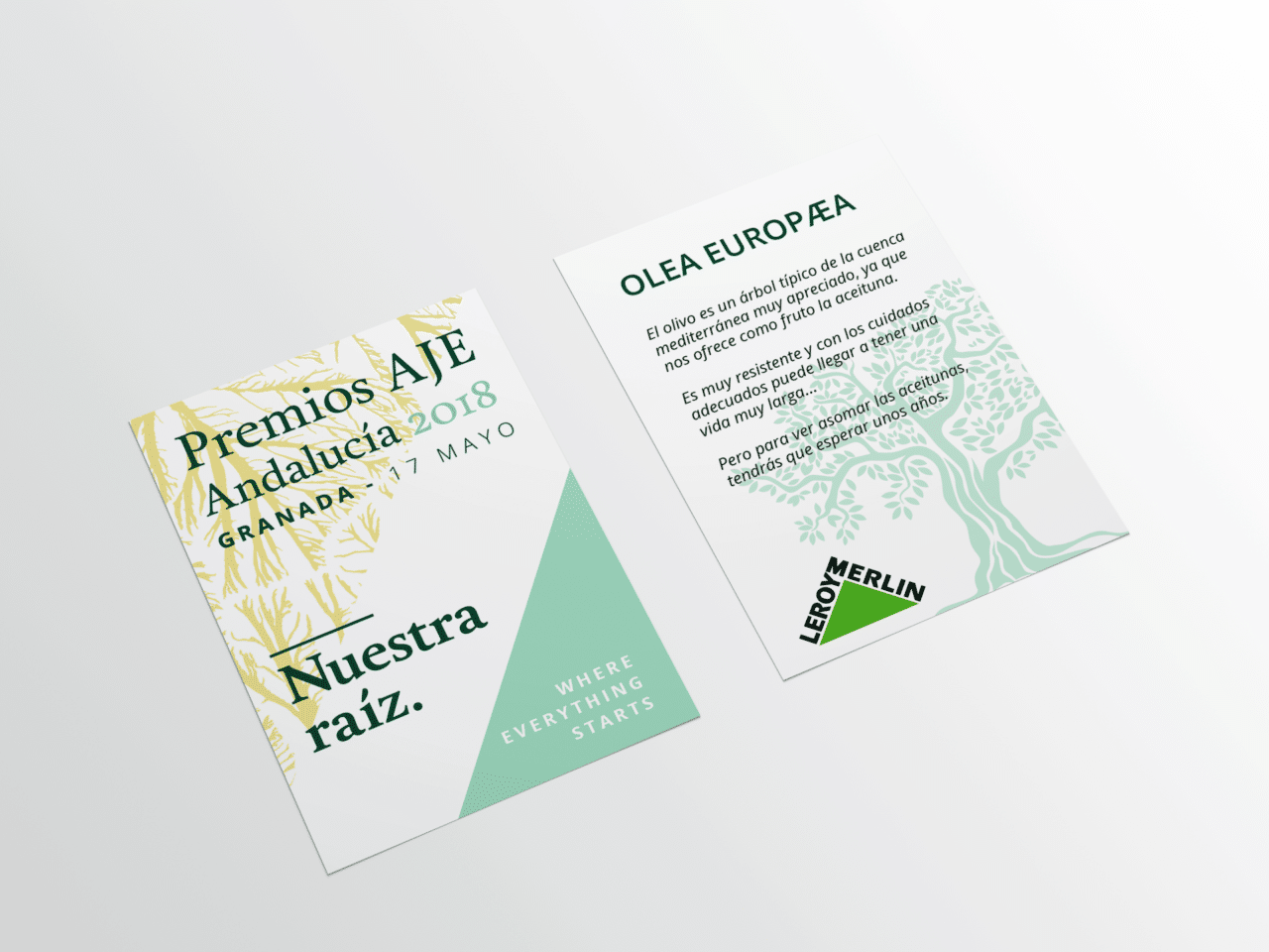 Diseño Gráfico Etiqueta Regalo Premios AJE Andalucía 2018
