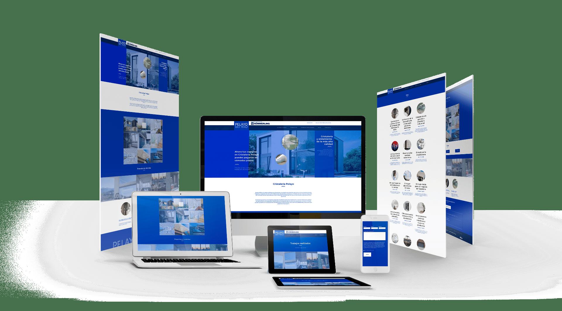 Diseño Web: Cristalería Pelayo