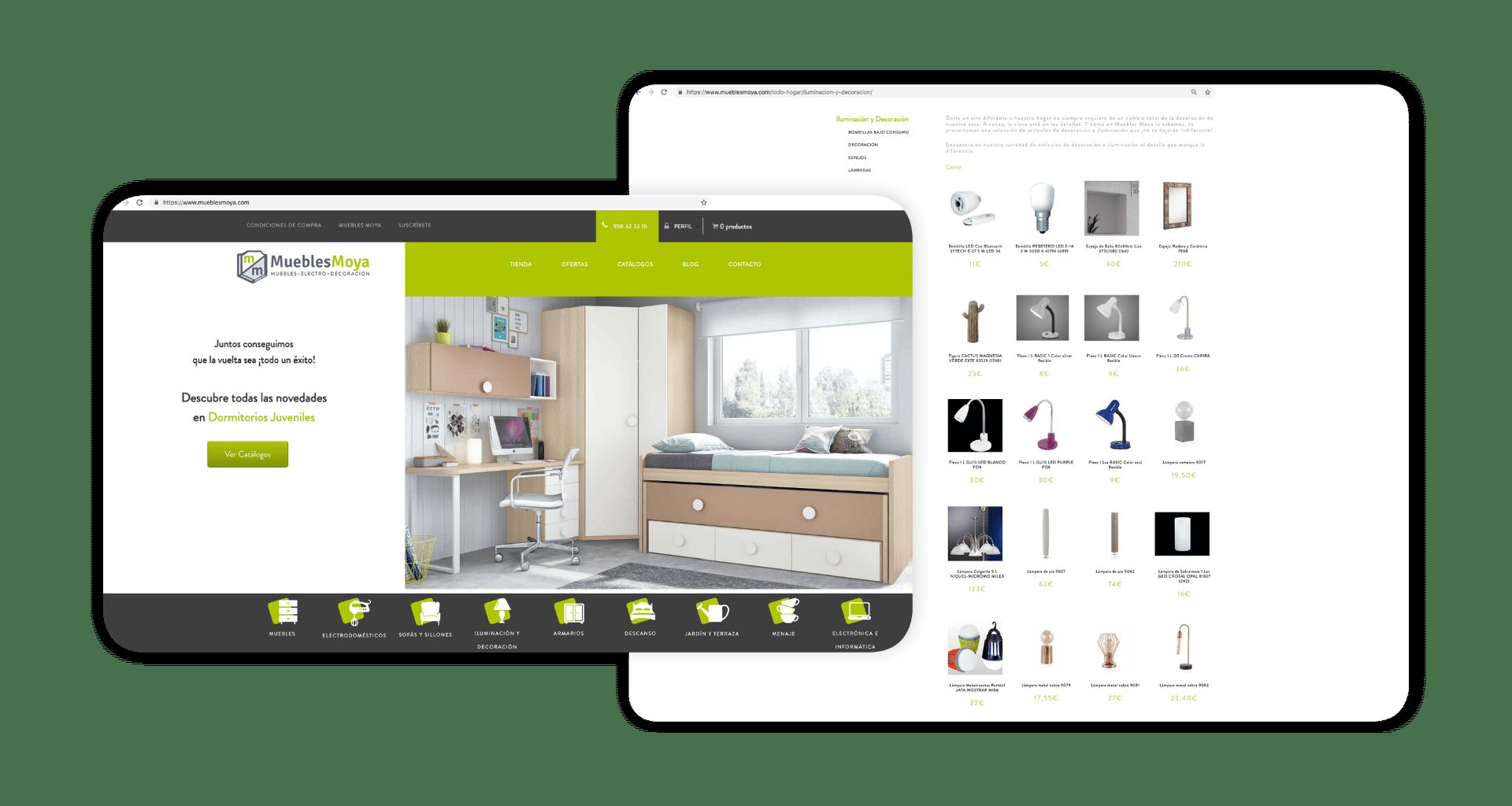 Diseño Tienda Online de Muebles Moya - Diseño Web Tienda Online