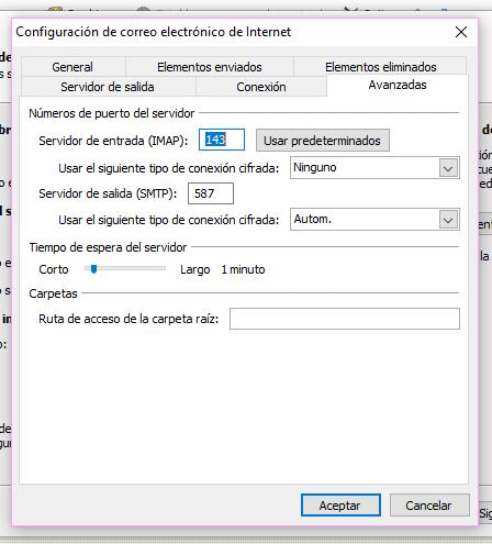 Configuración de correo de empresa en Microsoft Outlook