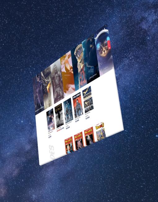 Diseño de tienda online de Dracomic - Librería online