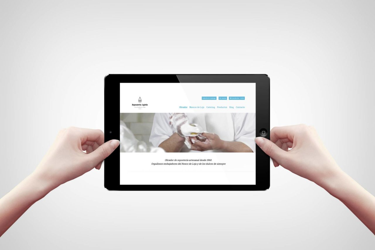 Diseño web Repostería Lojeña - Portfolio Agencia de Marketing