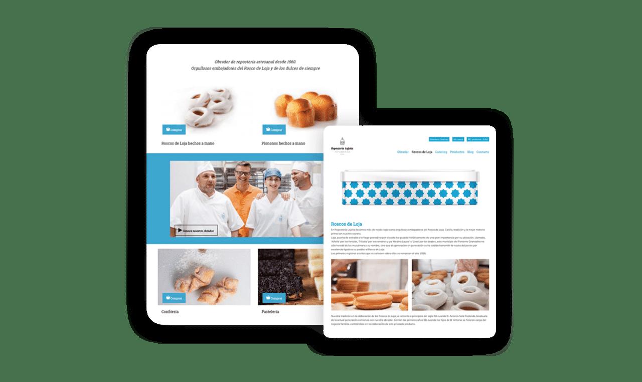 Diseño web- Repostería Lojeña - Portfolio Agencia de Marketing 2
