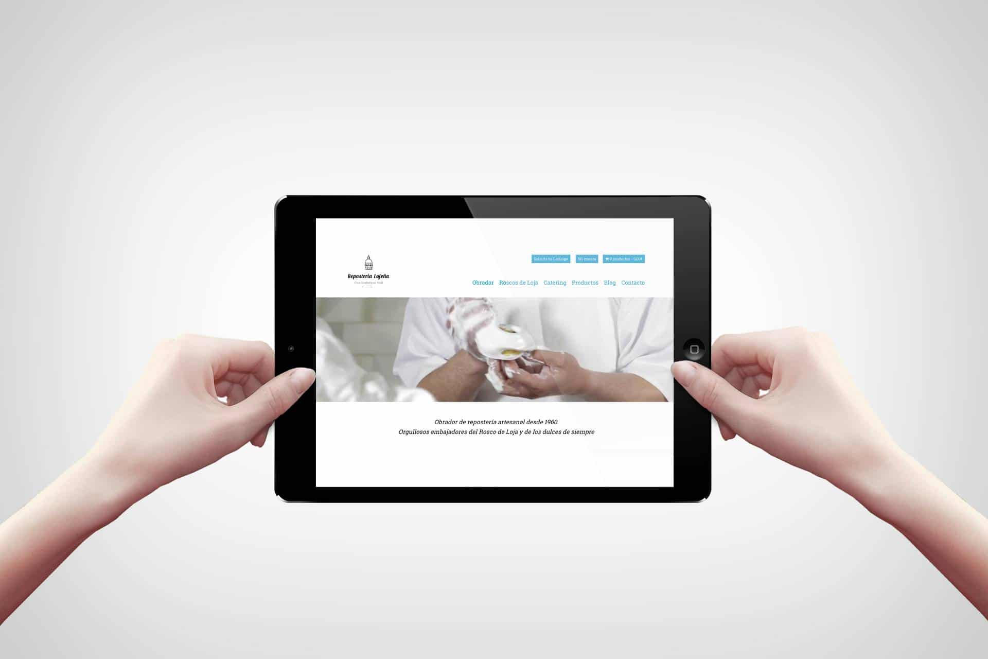 Diseño web: Repostería Lojeña