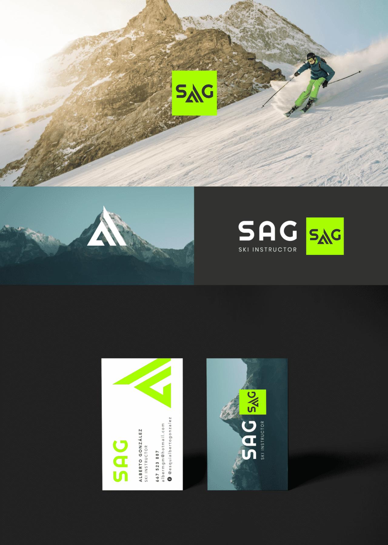 Diseño Imagen corporativa Instructor de Esquí en Granada