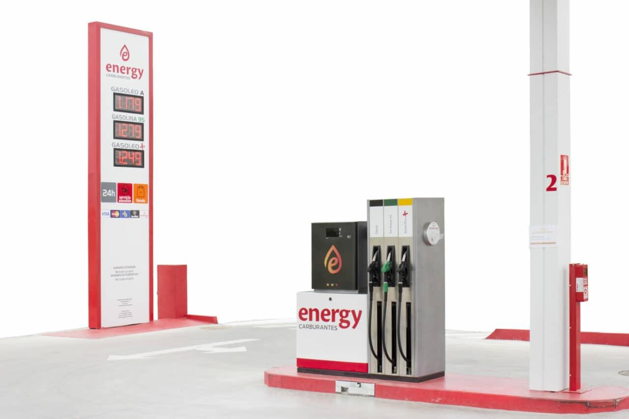 Diseño gráfico de elementos para Gasolineras Energy Carburantes