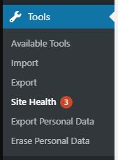 Salud del sitio WordPress 5.2